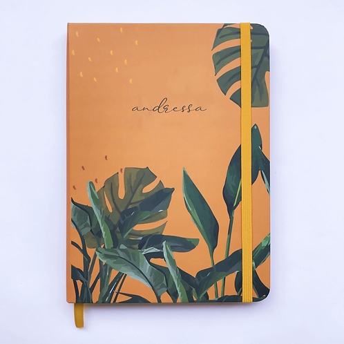 Caderno Bullet A5 - Tropical Laranja