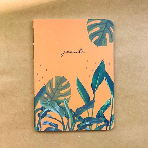 Caderninho Tropical Laranja