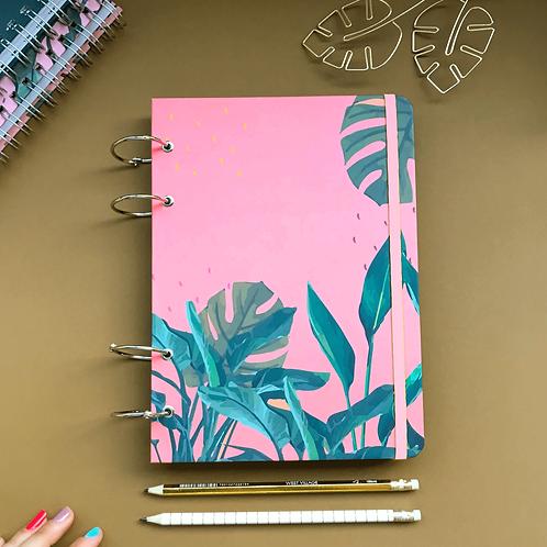 Caderno Fichário A5 - Tropical Rosa