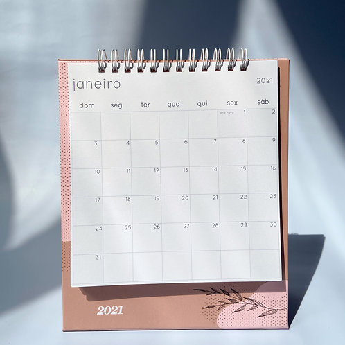Calendário 2021 - Marrom