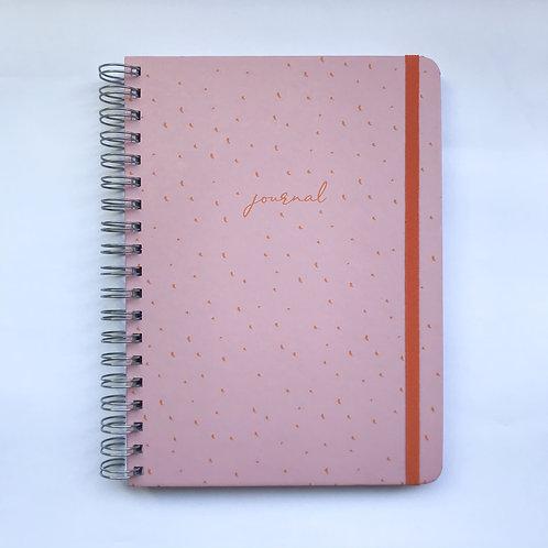 Journal 18x24 - Rosa Pintadinho