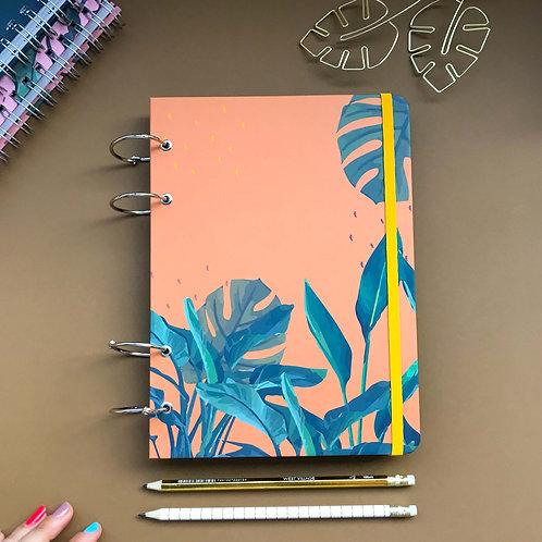Caderno Fichário A5 - Tropical Laranja