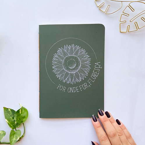 Caderninho Floresça - Verde
