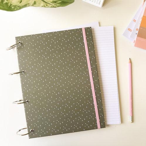 Caderno fichário G - Verde