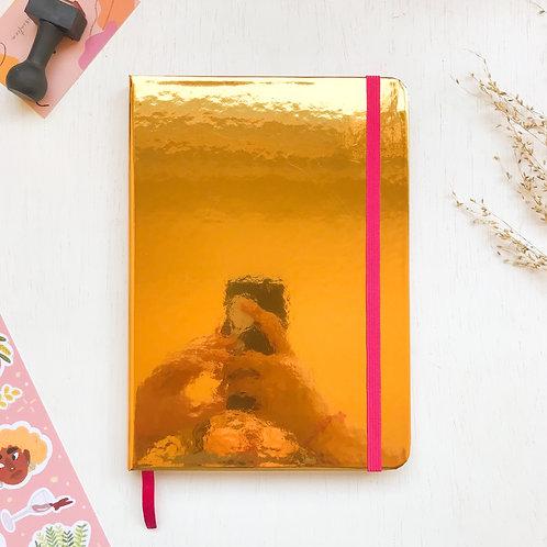 Caderno Bullet A5 - Dourado