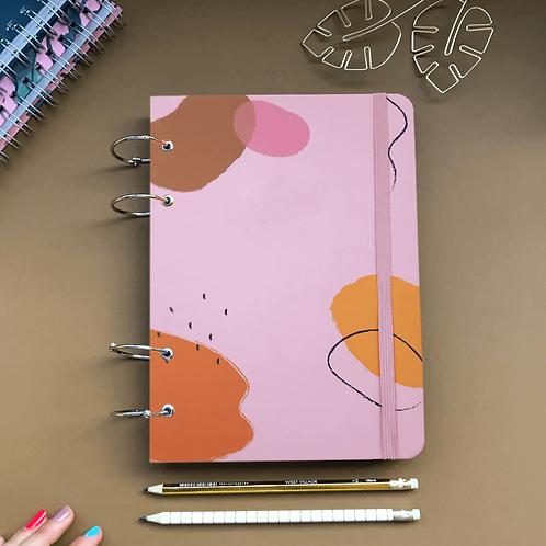 Caderno Fichário 18x24 - Mancha Rosa