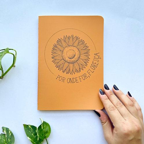 Caderninho Floresça - Laranja