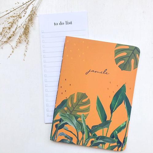 Kit Caderninho + to do list - Tropical laranja
