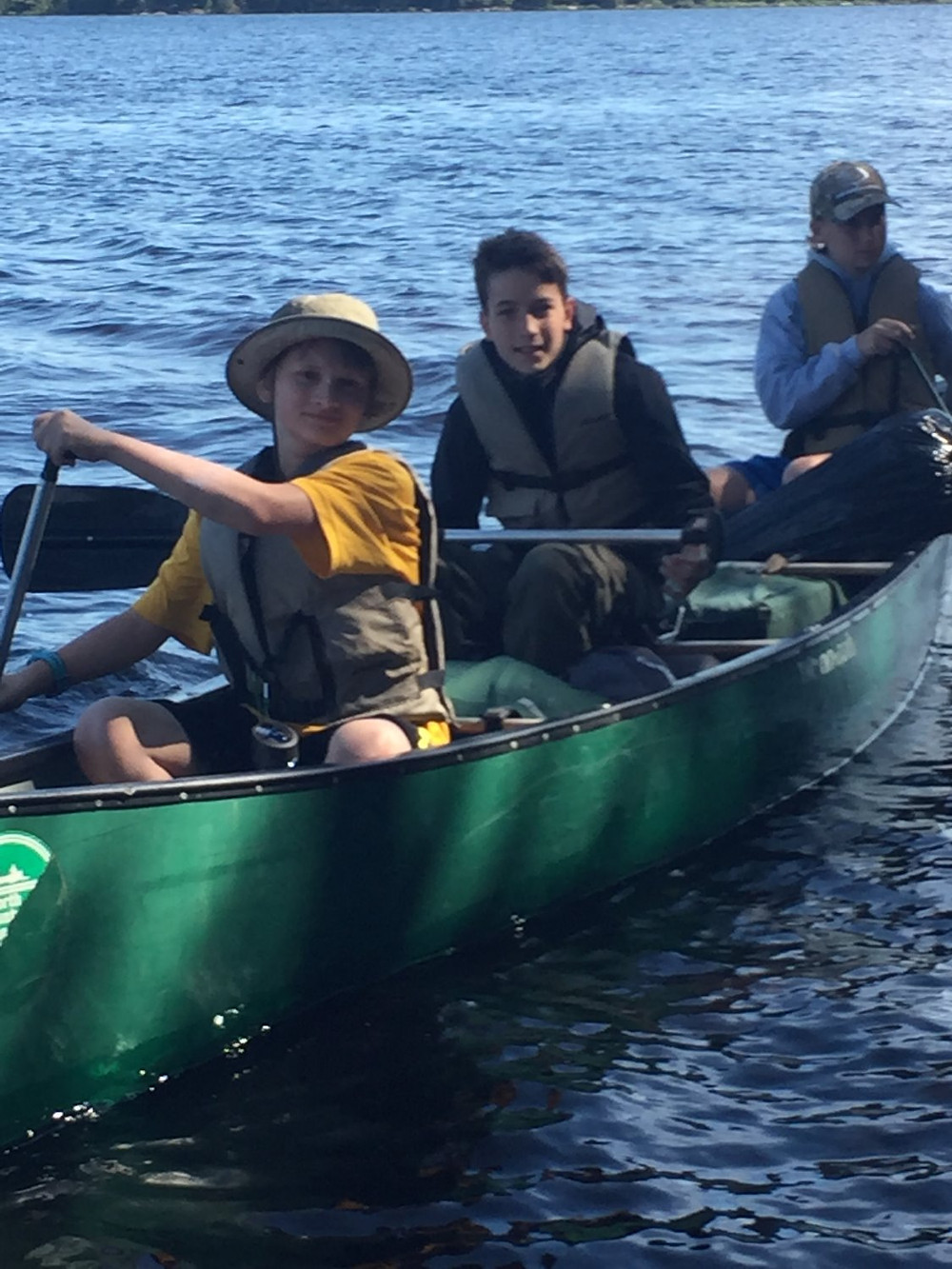 Teddy, Carl and Brent canoeing!