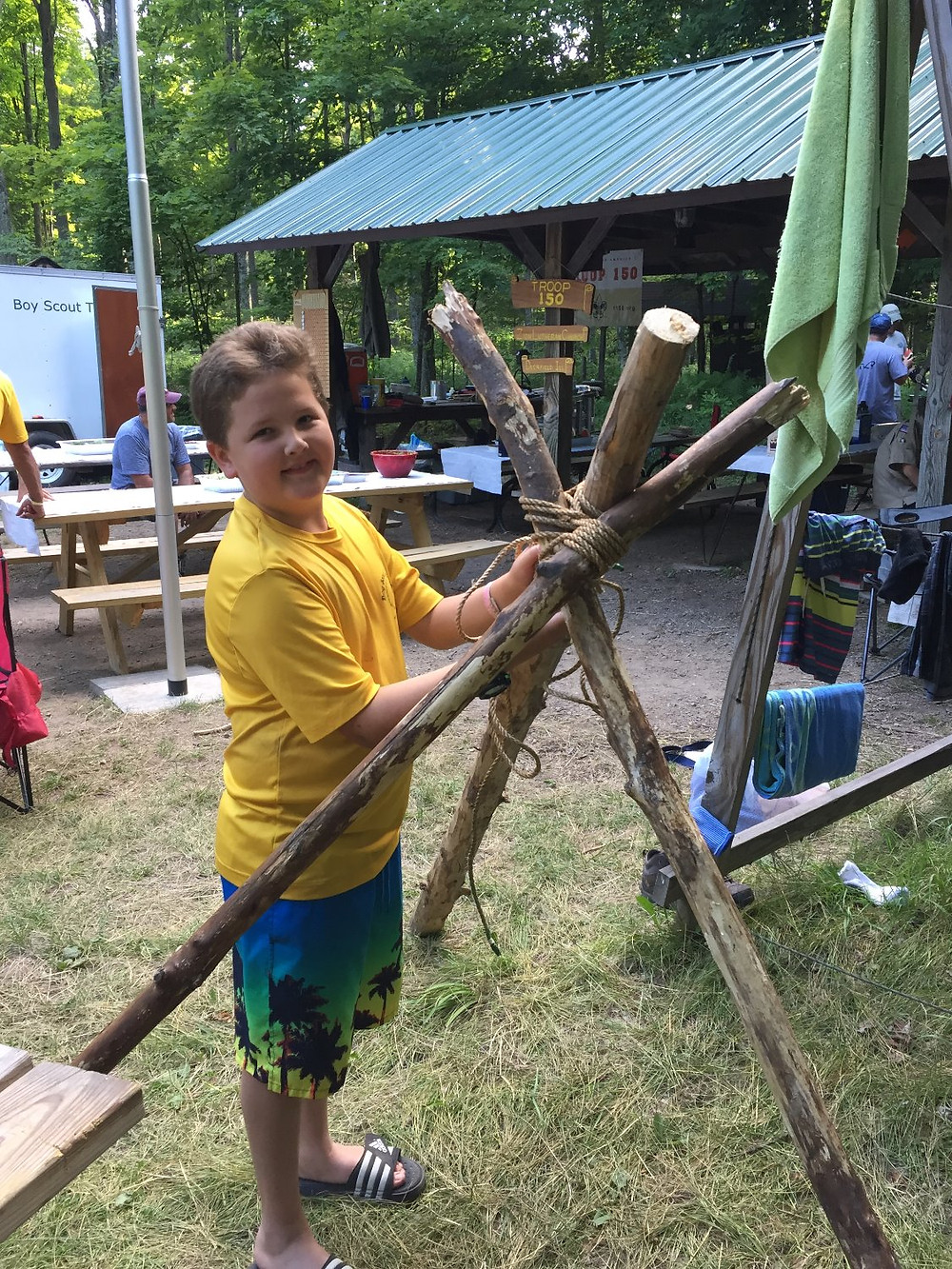Will making a TeePee!