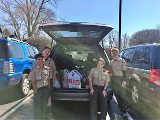 Collecting For Food Pantry
