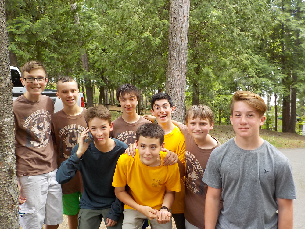 The BWCA Gang! Reed, Brent, Chris, Ethan, Teddy, Zach, Carl and Nick