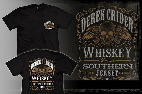 DEREK CRIDER Whiskey Burns T-Shirt