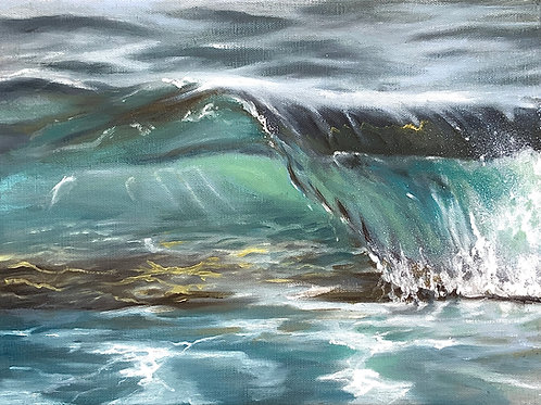 """TOILE """"Crystal wave"""""""
