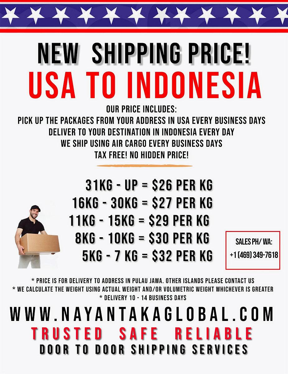 USA TO INDONESIA