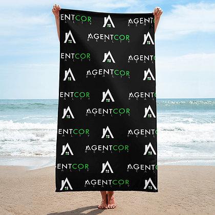 Agentcor Pattern Towel Black