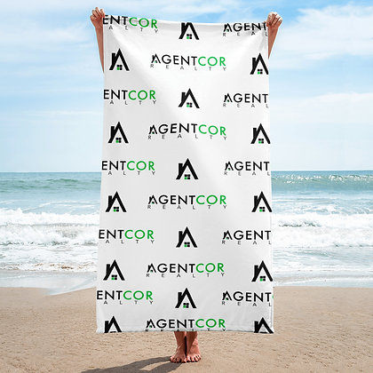 Agentcor Pattern Towel White