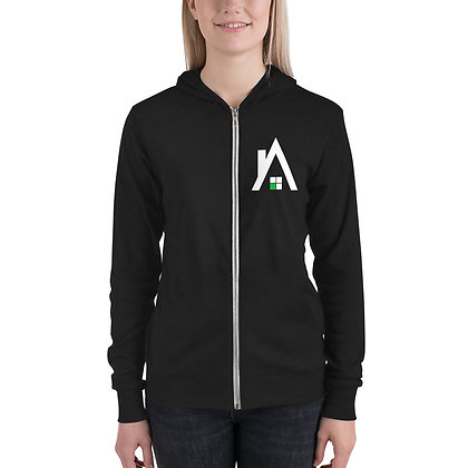 "Unisex Lightweight ""A"" Zip Up Hoodie"