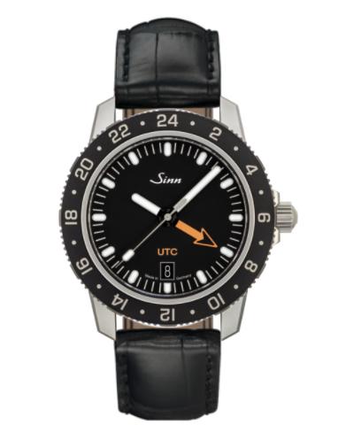 Sinn - 105 St Sa UTC - Black Leather Strap options - 105.020