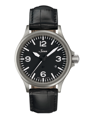 Sinn - 856  - Black Leather Strap options -856.011