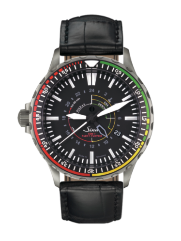 Sinn - EZM 7 - Black Leather Strap options - 857.030