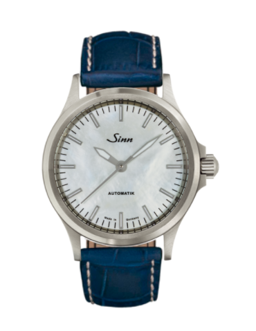 Sinn - 556 I Mother fo Pearl W - Misc Leather Strap options - 556.0102