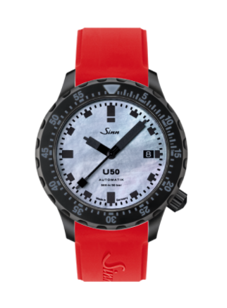 Sinn - U50 S Mother of Pearl - Silicone Strap options - 1050.0201