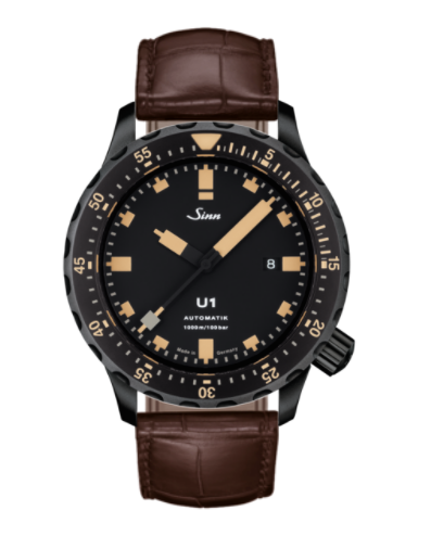 Sinn - U1 S E - Brown Leather Strap options -1010.023