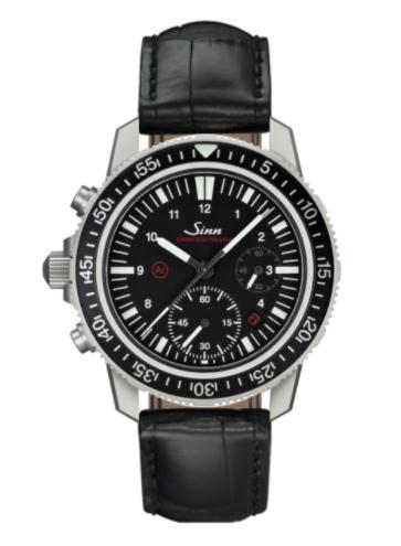 Sinn - EZM 13 - Black Leather Strap options - 613.010