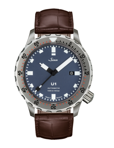 Sinn - U1 B with TEGIMENT - Brown Leather Strap options -1010.031