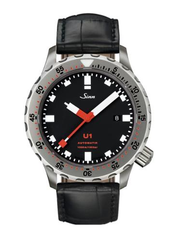 Sinn - U1 - Black Leather Strap options -1010.010