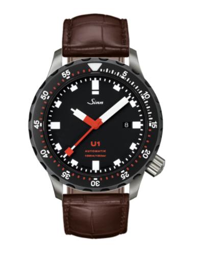Sinn - U1 SDR - Brown Leather Strap options -1010.040