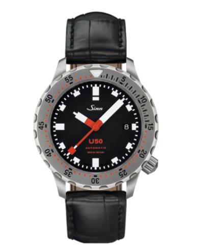 Sinn - U50 - Black Leather Strap options - 1050.010