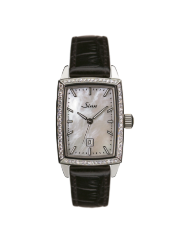 Sinn - 243 TW66 WG Mother of Pearl W  - Leather Strap Options - 243.051