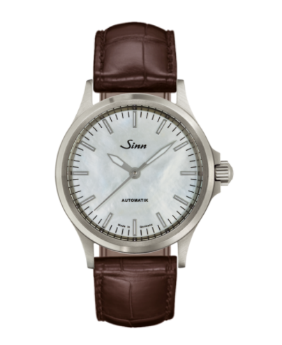 Sinn - 556 I Mother fo Pearl W - Brown Leather Strap options - 556.0102