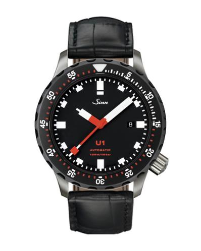 Sinn - U1 SDR - Black Leather Strap options -1010.040