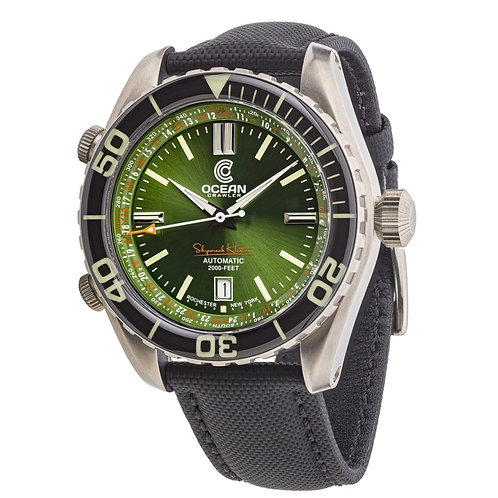 Ocean Crawler Ocean Navigator 45 Green dial divers watch
