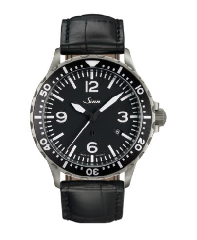 Sinn - 857 - Black Leather Strap options - 857.012