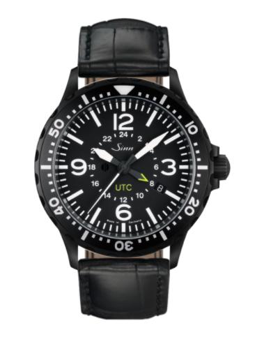Sinn - 857 S UTC - Black Leather Strap options - 857.020