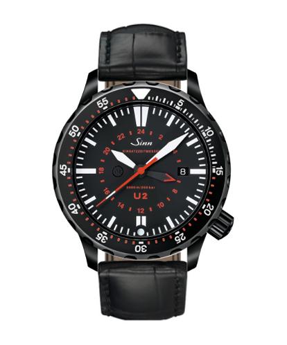 Sinn - U2 S (EZM 5) - Black Leather Strap option - 1020.020