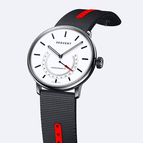 Sequent Supercharger Premium HR White Dial Black Red