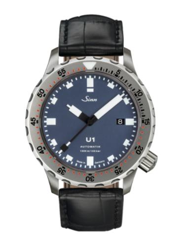 Sinn - U1 B with TEGIMENT - Black Leather Strap options -1010.031