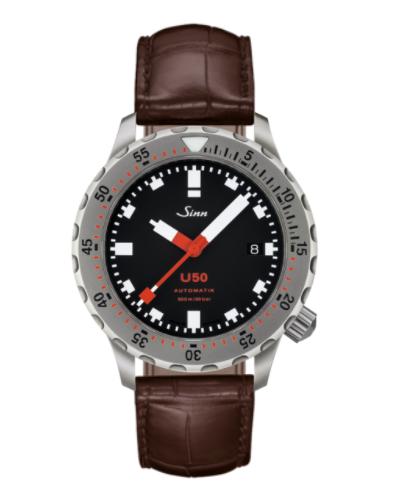 Sinn - U50 - Brown Leather Strap options - 1050.010