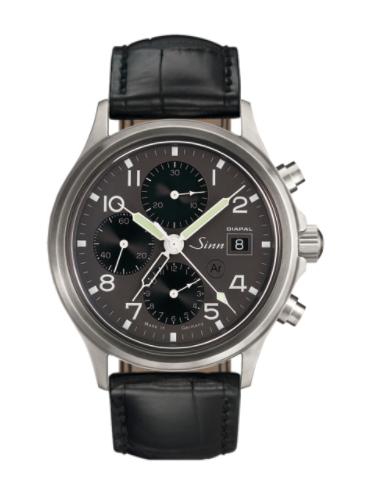 Sinn - 358 DIAPAL - Black Leather Strap options - 358.061