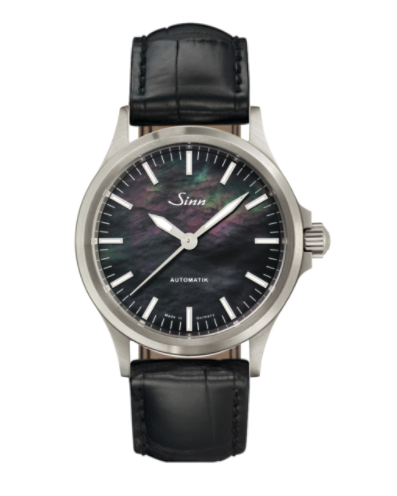 Sinn - 556 I Mother fo Pearl S - Black Leather Strap options - 556.0105