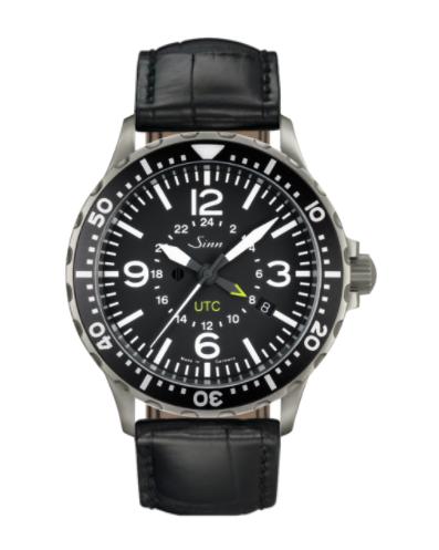 Sinn - 857 UTC - Black Leather Strap options - 857.010
