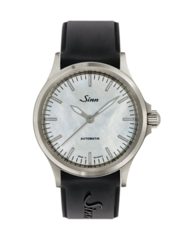 Sinn - 556 I Mother fo Pearl W - Silicone Strap options - 556.0102