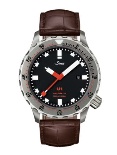Sinn - U1 with TEGIMENT - Brown Leather Strap options -1010.030