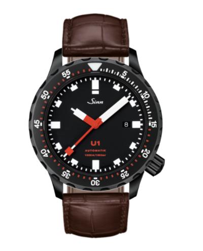 Sinn - U1 S - Brown Leather Strap options - 1010.020
