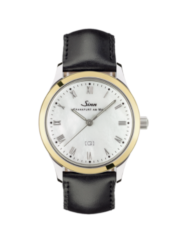 Sinn - 434 St GG Mother of Pearl - Leather Starp Options - 434.021